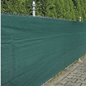 Noor frangivento Rete in resistente PE / PP, verde, 1,5 x 5 m