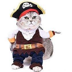 Disfraz de pirata para perro y gato (XL)