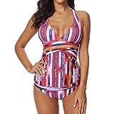 DaySing 2019 Damen Badeanzug Bikini Frauen Siamese Bikini Set Push-Up StripeSwimwear Beachwear auf Lager
