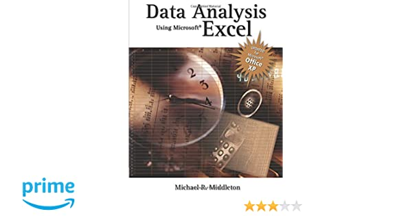 Data Analysis Using Microsoft Excel: Updated for Office XP: Amazon ...