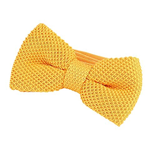 DonDon Men Knit Knitted Bow Tie Pre Tied and Adjustable