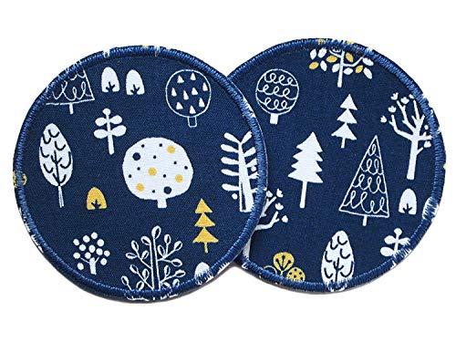fbügeln, Hosenflicken Wald Baum Applikationen für Kinder/Erwachsene, Durchmesser 8 cm ()