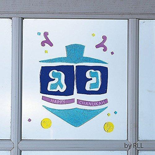 Rite-Lite Judaica Chanukah Window Gel Decorations, Glitter Asst. by Rite Lite LTD -