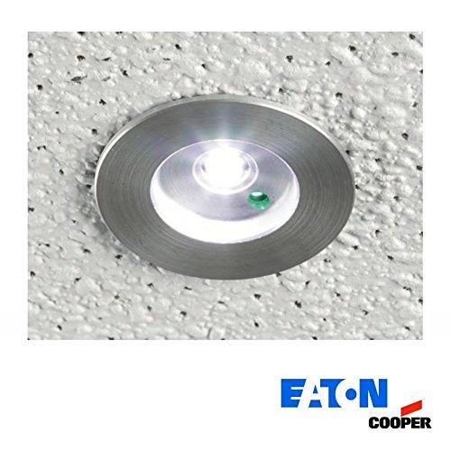 Cooper Eaton MPM Micropoint 3W LED Notfall Einbauleuchte Kit und Batterie - Cooper Beleuchtung Einbauleuchten