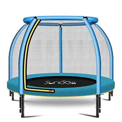 YGUOZ Trampolin für Kinder, Indoor Outdoor Klein Trampolin Jumper, Trampolin Set mit Sicherheitsnetz, Sprungmatte und Hochfeste Federn,Blue_48in