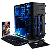 VIBOX Pyro RLR770-445 Gaming PC Computer with War Thunder Game Voucher (4.0GHz AMD Ryzen Threadripper 8-Core CPU, Radeon RX 570 Graphics Card, 16GB DDR4 2133MHz RAM, 1TB HDD, No Operating System)