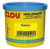 Clou Holzpaste zum Reparieren und Auskitten von Holzschäden schwarz, 150 g: gebrauchsfertige Paste geeignet für den gesamten Innenbereich