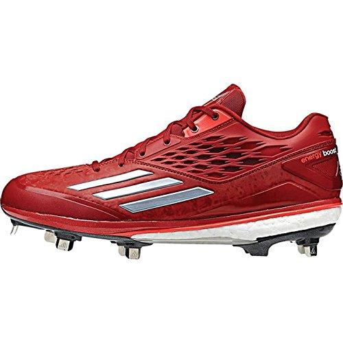 Adidas Herren-Energie-Boost Icon Low Metall Baseball Klampen Power Red/Carbon Metallic/Solar Red
