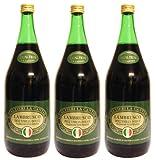 Lambrusco rosso dolce Gualtieri Dell`Emilia IGT (3 X 1,50 L) - Vino Frizzante - Roter Süßer Perlwein 7,5 % Vol. aus Italien