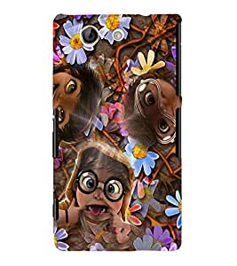 Fuson 3D Printed Funny Faces Designer back case cover for Sony Xperia Z4 Compact - D4284