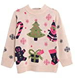 Scheppend Kids Boys Girls Unisex Christmas Knitted Jumpers Sweaters Age 2-7