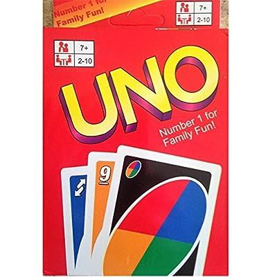 Uno Jeu de cartes, 108 cartes à jouer, Un jeu de société idéal pour se divertir et passer des soirées amusantes avec des amis et en famille