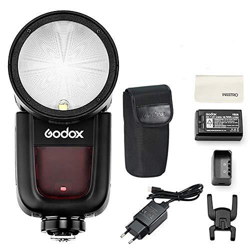 Godox V1-N Runder Kopf Kamera Blizt TTL 2.4G HSS Speedlight für Nikon DSLR Kameras für Nikon D800 D700 D7100 D7000 D5200 D5100 D5000 D300 D300S D3200