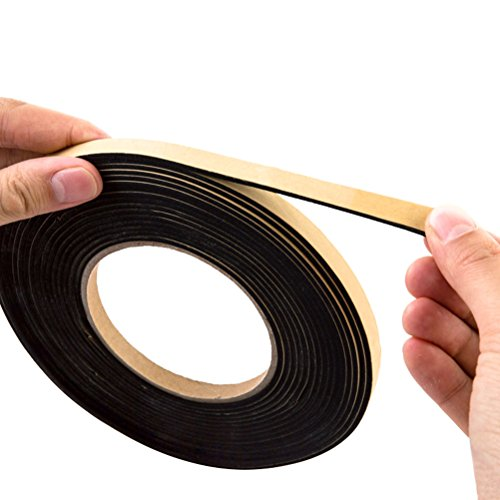 OUNONA Antifouling Strip Sealing Tape Türdichtung Weatherstripping Sealing Strip für Draft Stopper Gap Blocker und Windblocker 2M (Black) (Wetter-stopper)