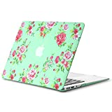 Best Kuzy Macbook Pro Cases 13 Inches - Kuzy R3 Vintage Flowers 13-inch Rubberized Hard Case Review