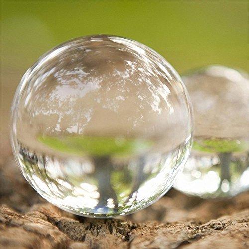 Glaskugel (Preup Glaskugel klar, Kristallkugel in Fotografenqualitaet ohne Lufteinschlüss (10cm Durchmesser))