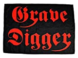 GRAVE DIGGER - Logo - Flagge Posterflagge / Textile Poster Flag - ca. 70 x 98 cm
