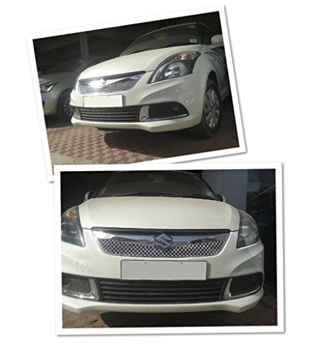 Auto Pearl - Premium Quality Car Chrome Front Grill For - Maruti Suzuki Swift Dzire 2015 (Type 3 Bently Upper)  available at amazon for Rs.2069