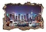 3D WANDILLUSION murando 140x100 cm Wandbild - Fototapete - Poster XXL - Loch 3D - Vlies Leinwand - Panorama Bilder - Dekoration - New York Stadt d-C-0056-t-a