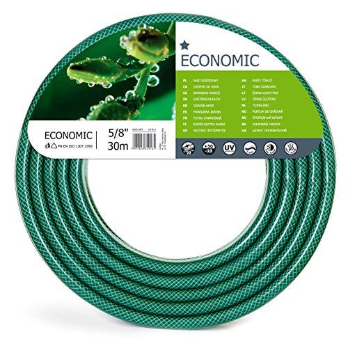"""Cellfast 10-011 Gartenschlauch Economic, 5/8\"""" x 30 m, 3-lagiger, transparent grün"""