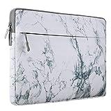MOSISO Funda Protectora Compatible 13-13.3 Pulgadas MacBook Pro Retina/MacBook Air/Surface Laptop 2 2018 2017/ Surface Book 2/1, Manga de Ordenador Portátil Caja Cubierta, Blanco Patrón de Mármol