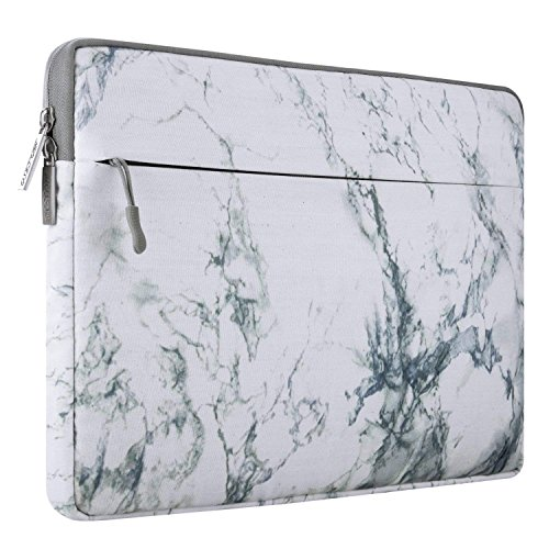 MOSISO Funda Protectora Compatible 13-13.3 Pulgadas MacBook Pro Retina/MacBook Air/Surface Laptop 2 2018 2017/ Surface Book 2/1, Manga de Ordenador Portátil Caja Cubierta, Blanco