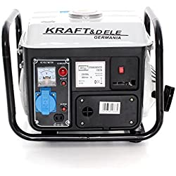 Grupo electrógeno TR-KD109B. Generador de corriente, tipo silenciado, transportable.1000W / 1300W. Motor de 2tiempos monofásico con silenciador catalítico.Funcionamiento con mezcla al 2%. Arranque manual con correa. 1toma, Bianco
