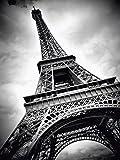 Artland Qualitätsbilder I Poster Kunstdruck Bilder 30 x 40 cm Architektur Gebäude Sehenswürdigkeiten Foto Schwarz Weiß A4DQ Eiffelturm Paris