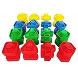 Aiming 16 Coppie Viti di plastica Block Dado di Inserimento Partita Figura Capretto dei Bambini del Giocattolo di attività Toy Puzzle Modello in Scala