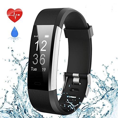 Fitness Tracker,Aneken Fitness Armband Uhr mit Herzfrequenz, Schrittzähler Pulsmesser mit 14 Trainings Modi Schlafmonitor Wasserdicht Kalorienzähler Beachten kompatibel mit iOS Android Handy (Schwarz)
