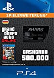 Grand Theft Auto Online | GTA V Blue Shark Cash Card | 500,000 GTA-Dollars | PS4 Download Code - deutsches Konto