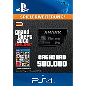 Grand Theft Auto Online | GTA V Bull Shark Cash Card | 500,000 GTA-Dollars | PS4 Download Code – deutsches Konto