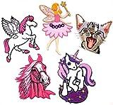 i-Patch - Patches - 0121 - Pferd - Katze - Elfe - Fee - Einhorn - Stute - Fohlen - Pferdekopf - Pferde - Katzen - Einhörner - Hufeisen - Reiten - Applikation - Aufbügler - Flicken - Aufnäher - Sticker - Badges - Flicken - Patch - Bügelbild - Mädchen