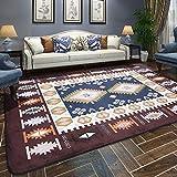 LYX1,Teppich Fußmatten Mittelmeer verdickte rechteckige Teppich-Wohnzimmer-Schlafzimmer-Nachttisch-Couchtisch-Decke (größe : 120 * 180cm)