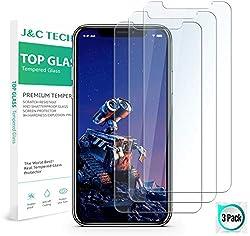 iPhone XS Panzerglas, iPhone X Panzerglas, J&C TECH iPhone XS/X Schutzfolie 2018 [3 Stück] Bruchsicher, 3D-Touch, mit Hülle Verwendbar, Leicht Anzubringen iPhone XS/X Displayschutzfolie