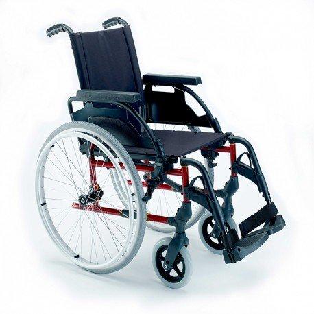 Breezy Premium Rollstuhl, zusammenklappbar, mit Rädern, 61-49, Grau