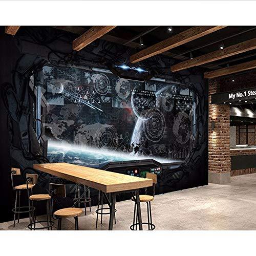 estaurant Murals Coole Bar Tapete Raumkapsel Raumschiff Wandbild Schöner Hintergrund Wand-200X140Cm ()