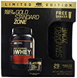 Optimum Nutrition Protéine 100% Whey Gold Standard Chocolat 908 g avec Gold Standard Pre-Workout Fruit Punch 88g avec SHAKER OFFERT