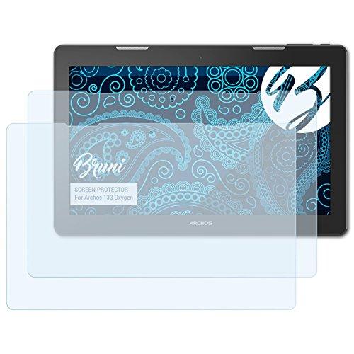Bruni Schutzfolie für Archos 133 Oxygen Folie, glasklare Bildschirmschutzfolie (2X)