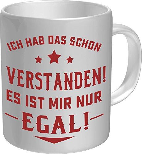 RAHMENLOS® Kaffeebecher: Ich hab das Schon verstanden, es ist Mir nur egal! - Im Geschenkkarton 2635