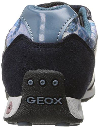 Geox JR NEW JOCKER A Mädchen Sneakers Blau (C4PH4DARK NAVY/OCTANE)