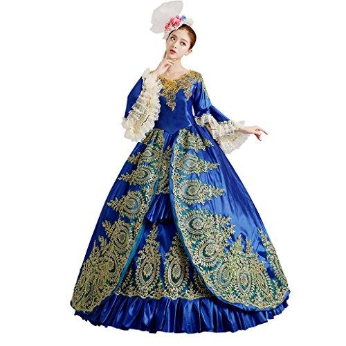 Cosplayitem Damen Mädchen Lagerter Gothic viktorianischen Kleid Kostüm Abendkleid Palace Maskerade Königin Prinzessin (Prinzessin Kostüme Viktorianische)