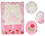 Luxus - Patchworkdecke 160 cm * 240 cm - Baumwolle - Ballerina Tänzerin - für Kinder / Baby / Mädchen - Blumen Decke Kuscheldecke Kinder Plaid Kinderdecke - Tagesdecke Quilt / Patchwork Krabbeldecke Prinzessin