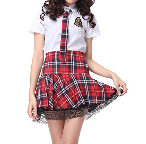 Damen japanische schuluniform Cheerleader Cosplay Kostüm