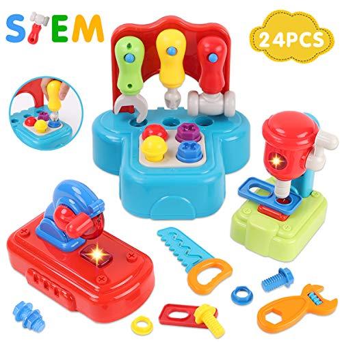 nder werkzeug set , Werkzeug mit realistischem Klang und Beleuchtung , Bauspielzeug für frühes Lernen ,für Jungen / Mädchen / Kleinkind , Geschenke. Geeignet für Alter über 2 Jahre ()