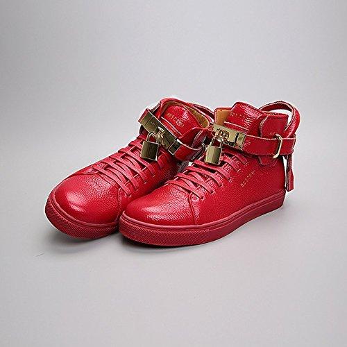 SHOESHAOGE Les Chaussures De Femmes En Automne Et En Hiver Haut De Loisirs Sportifs Aider Des Couples Hip Street Dance Augmenter Couleur unie