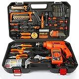 ZXZ-GO Conjunto de Herramientas de Hardware Kit de reparación de Electricista de Kit de carpintería doméstica con Taladro eléctrico