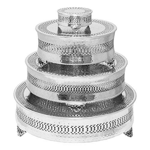 Essentials rund vierflammig Hochzeit Kuchen steht ()