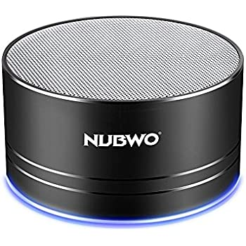 Bluetooth Speaker,Nubwo Wireless Portable Travel Mini Speaker with Superior Sound,5-hour Playtime,Build-in Mic,Low Harmonic Distortion,Patented Bass Port,Hands-free Call,3W Driver,AUX Line,and TF Card Slot for iPhone, iPod, iPad, Samsung, LG and others(Black)