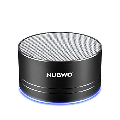 Bluetooth-SpeakerNubwo-Wireless-Portable-Travel-Mini-Speaker-with-Superior-Sound5-hour-PlaytimeBuild-in-MicLow-Harmonic-DistortionPatented-Bass-PortHands-free-Call3W-DriverAUX-Lineand-TF-Card-Slot-for